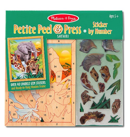Melissa & Doug Safari Petite Peel  & Press Stick by Number