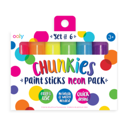 Ooly Chunkies Paint Sticks Neon  - Set Of 6
