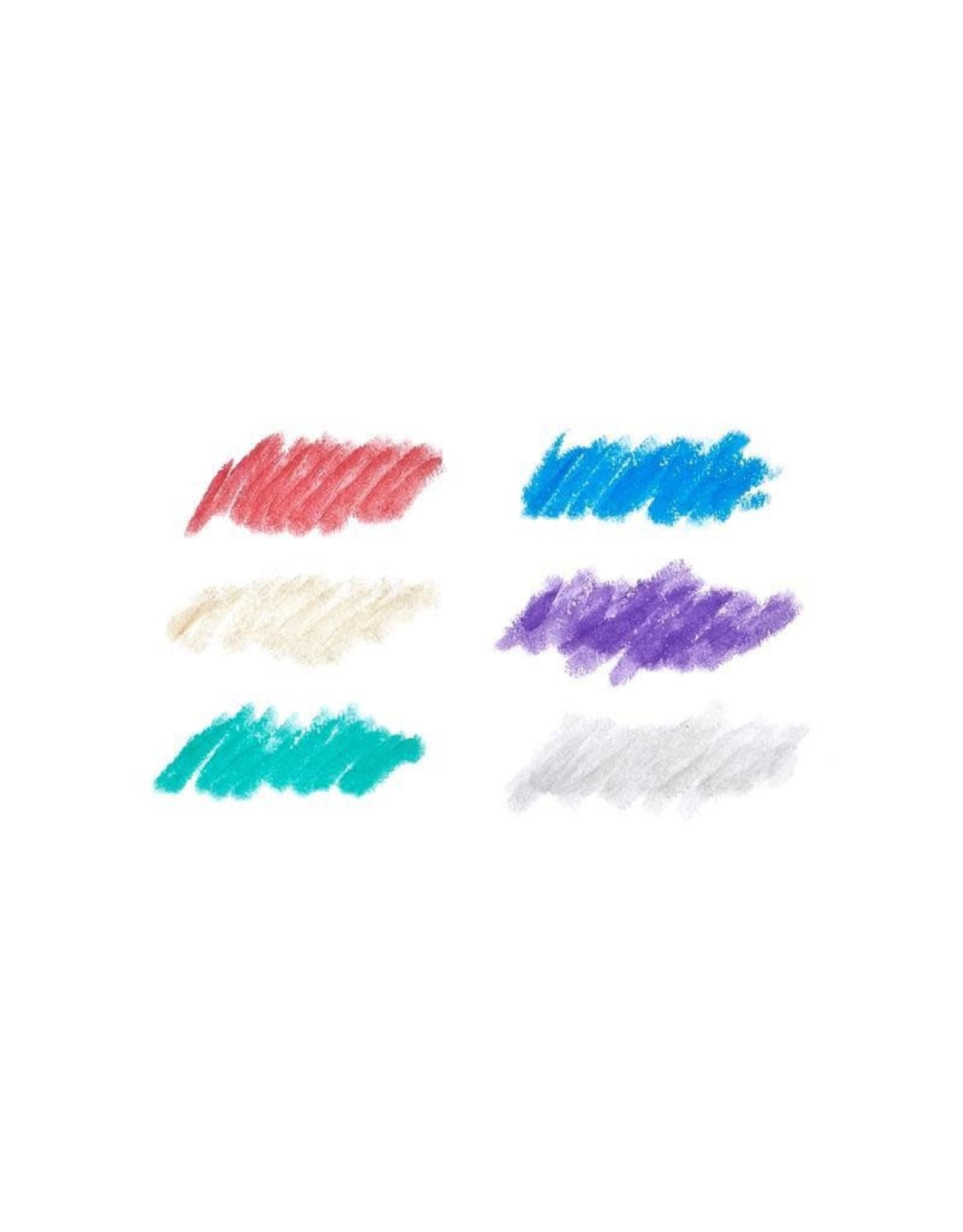 Ooly Chunkies Paint Sticks Metallic - Set Of 6
