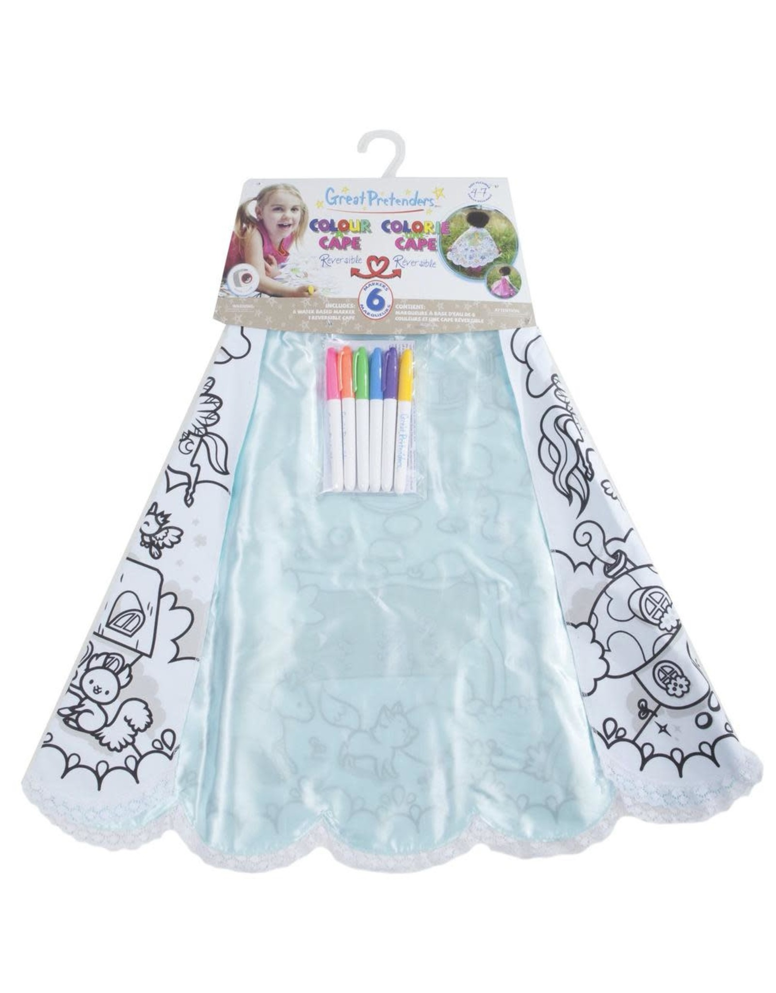 Great Pretenders Colour-A-Cape  Magical Princess  Size 4-7
