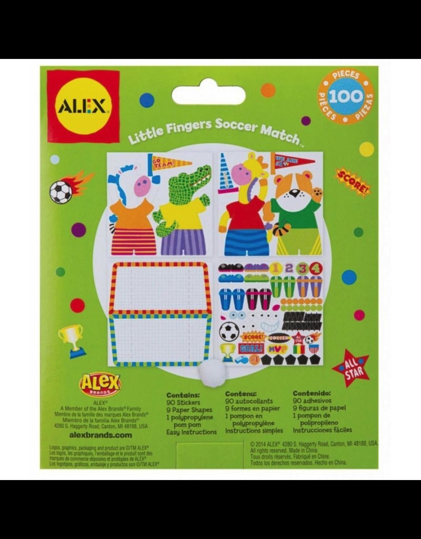 Little Fingers Soccer Match Pop Crafts