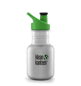 Klean Kanteen Kid Kanteen 12oz Sport Cap -  Brushed Stainless
