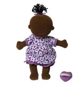 Manhattan Toy Wee Baby Stella Doll Brown with Purple Dress