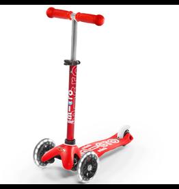 Kickboard Mini Micro Deluxe Led - Red