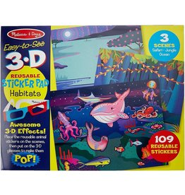Melissa & Doug Easy To See 3d Reuseable Sticker Pad - Habitats