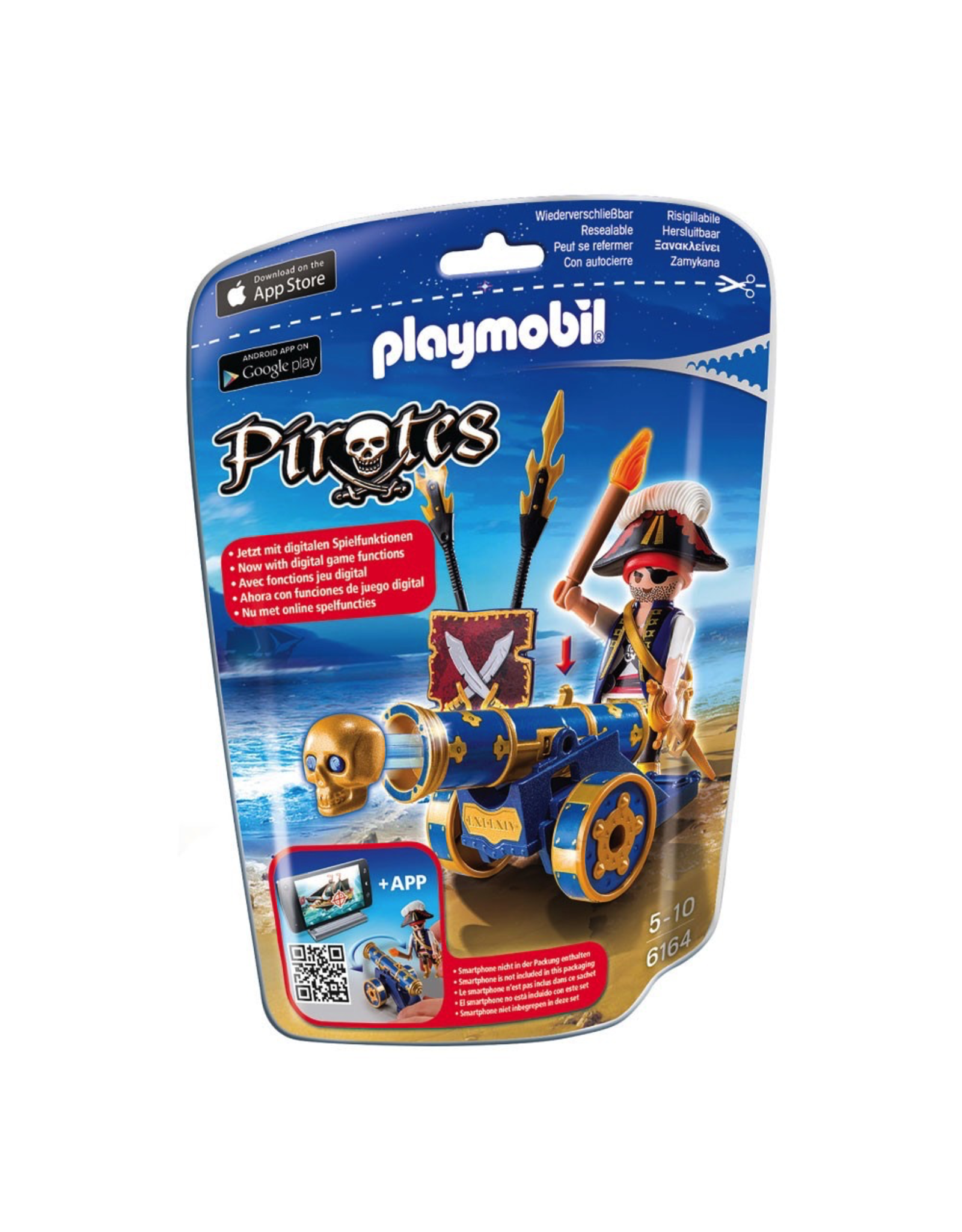 Playmobil Blue Interactive Cannon With Pirate 6164