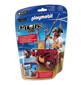 Playmobil Red Interactive Cannon With Buccaneer 6163