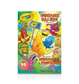 Crayola 96 Pg Colouring Book Asst (SLOTHS Love Llamas, Uni Creatures, Dinosaurs Galore)