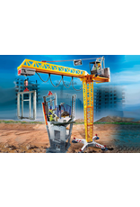 Playmobil Construction Site RC Crane With Building Section 70441