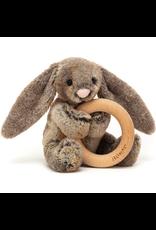Jellycat Bashful Woodland Bunny Wooden Ring Rattle