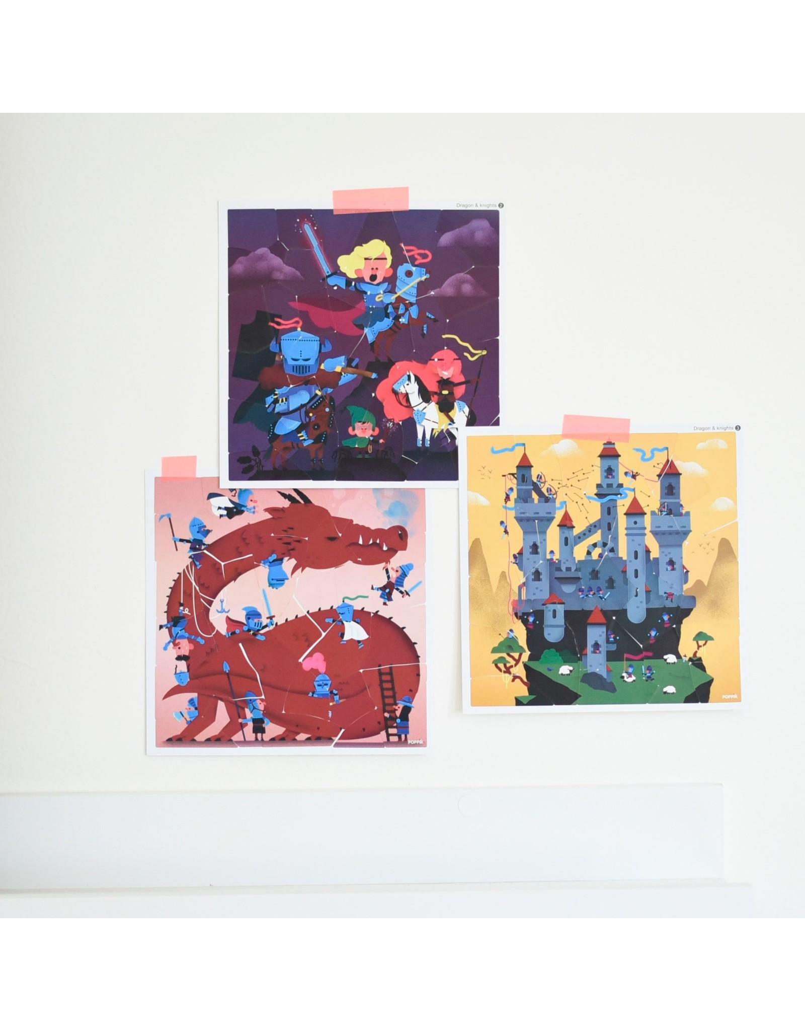 Poppik Dragons & Knights Sticker Puzzles