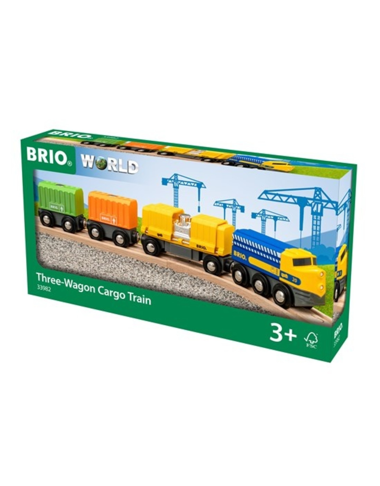 Brio Three Wagon Cargo Train