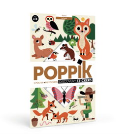 Poppik Forest Sticker Discovery Poster