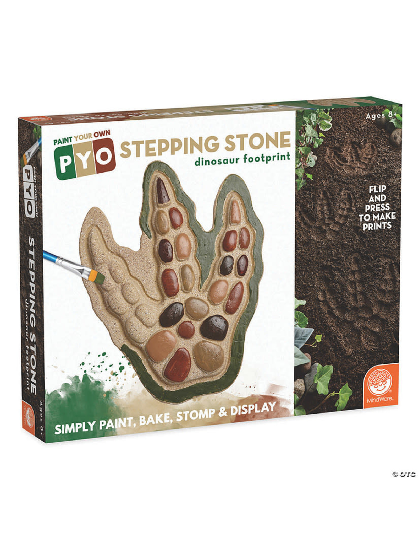 Paint-Your-Own Stepping Stone: Dinosaur