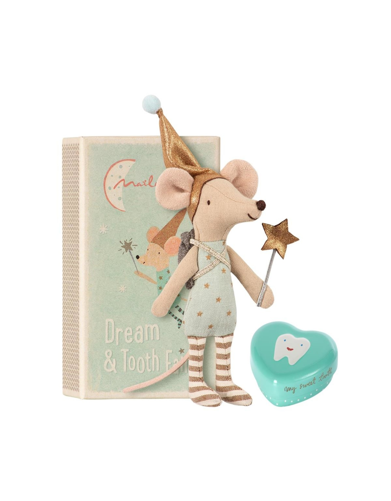 Maileg Tooth Fairy  Big Brother Mouse W. Metal Box