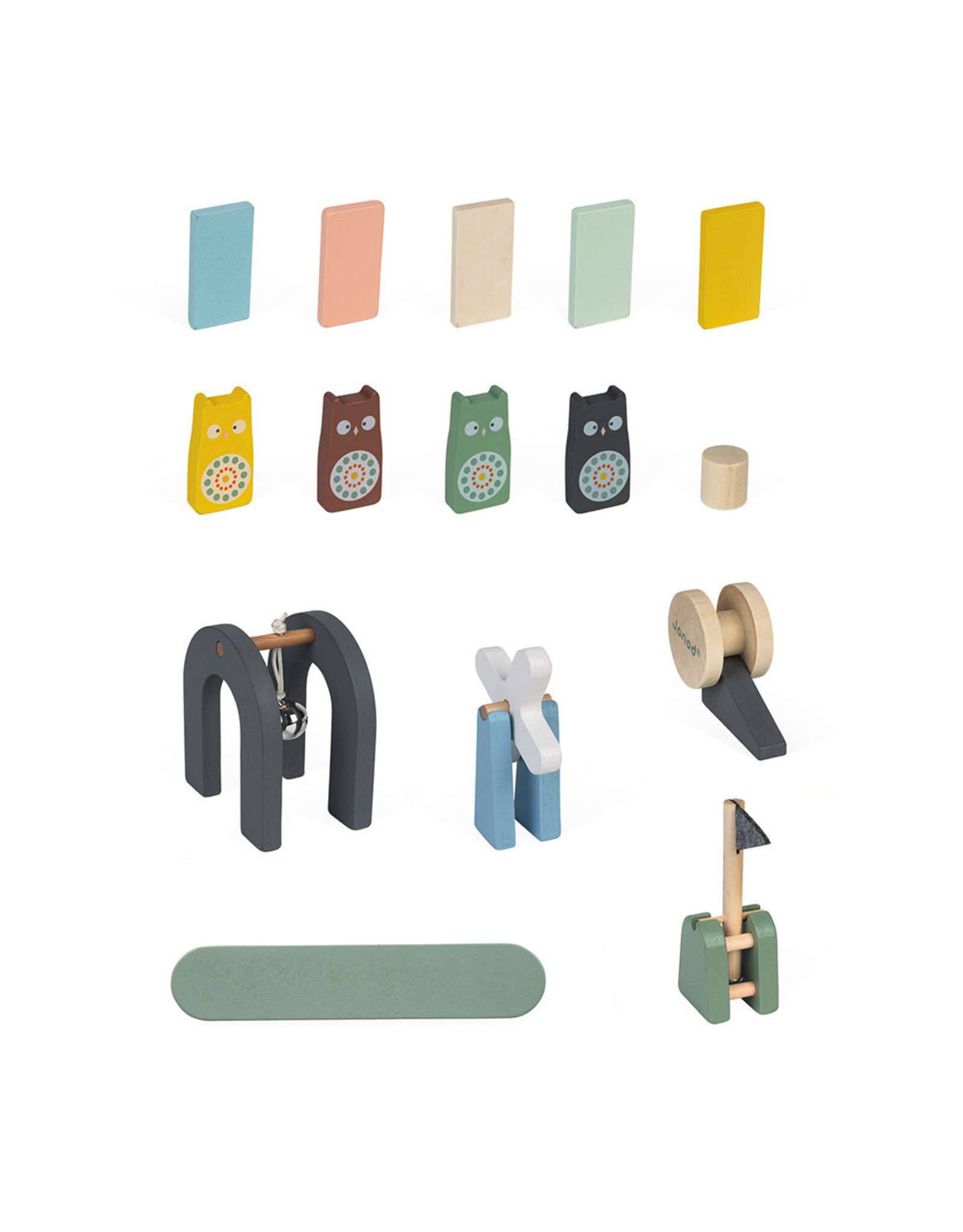 Janod Sweet Cocoon Dominos - 100 Pieces