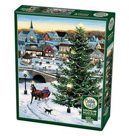 Cobble Hill Puzzles Village Tree 1000pc