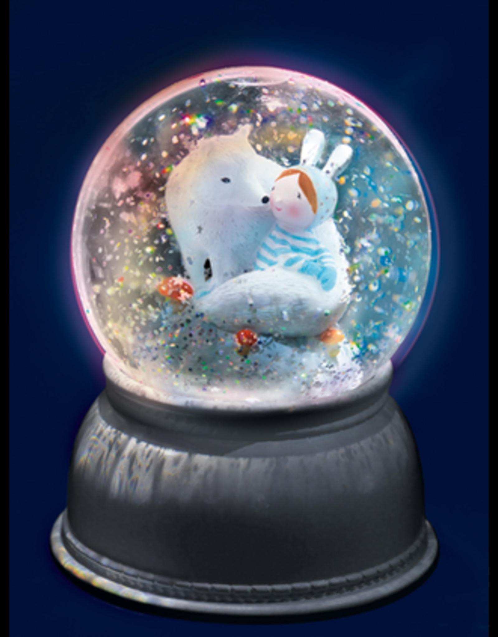 Djeco Lila and Pupi Nightlight Snow Globe