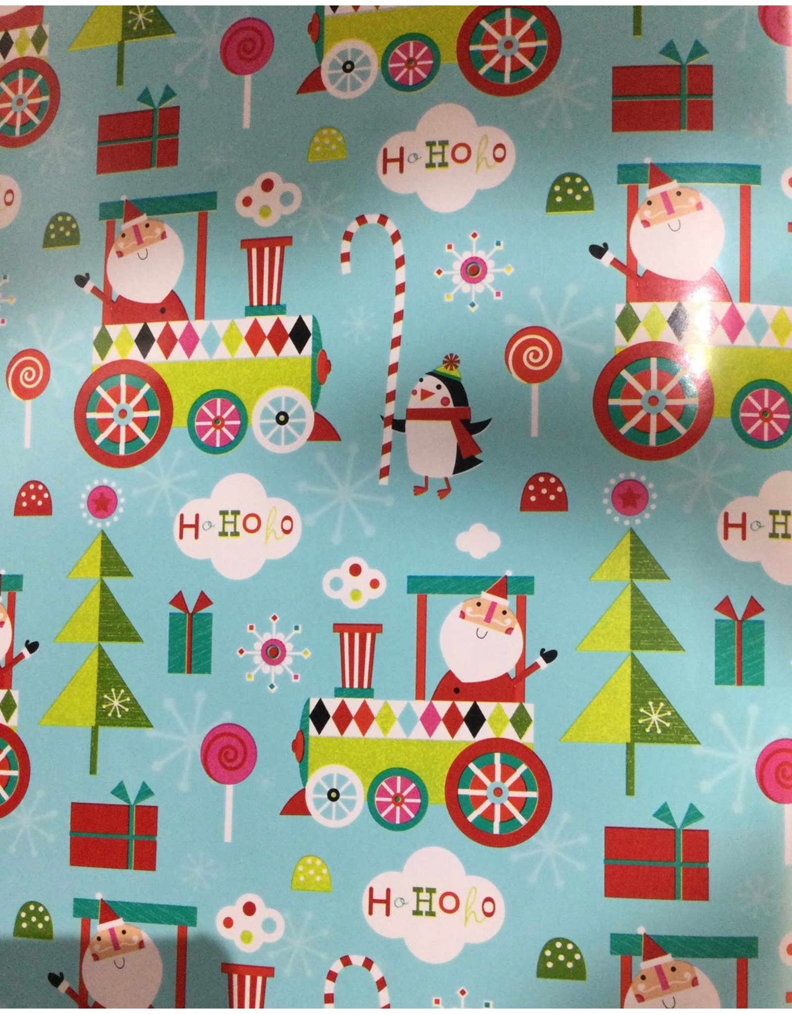 Gift Wrapping Retro Santa