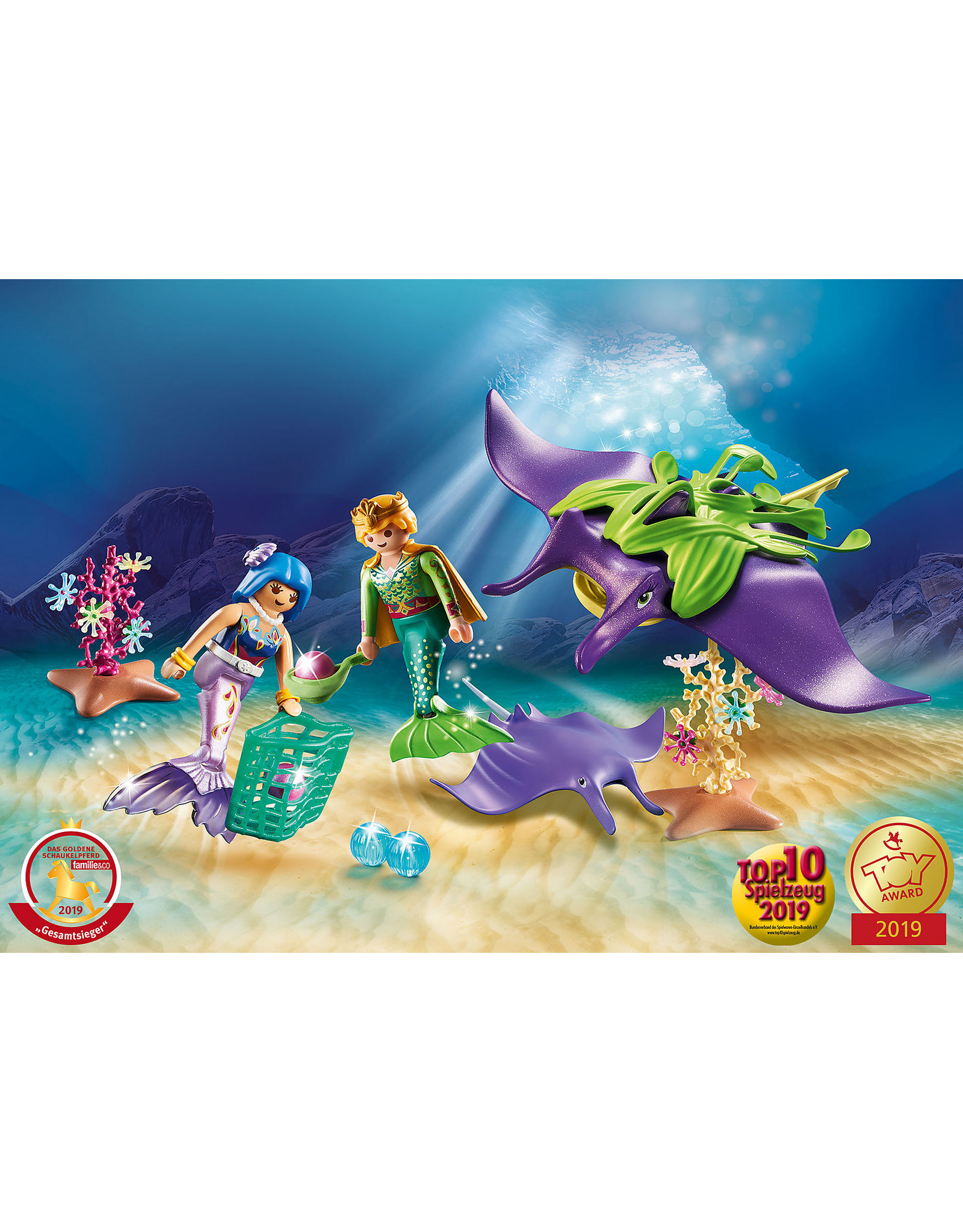 Playmobil PLAYMOBIL 70099   MAGIC   Pearl Collectors with Manta Ray