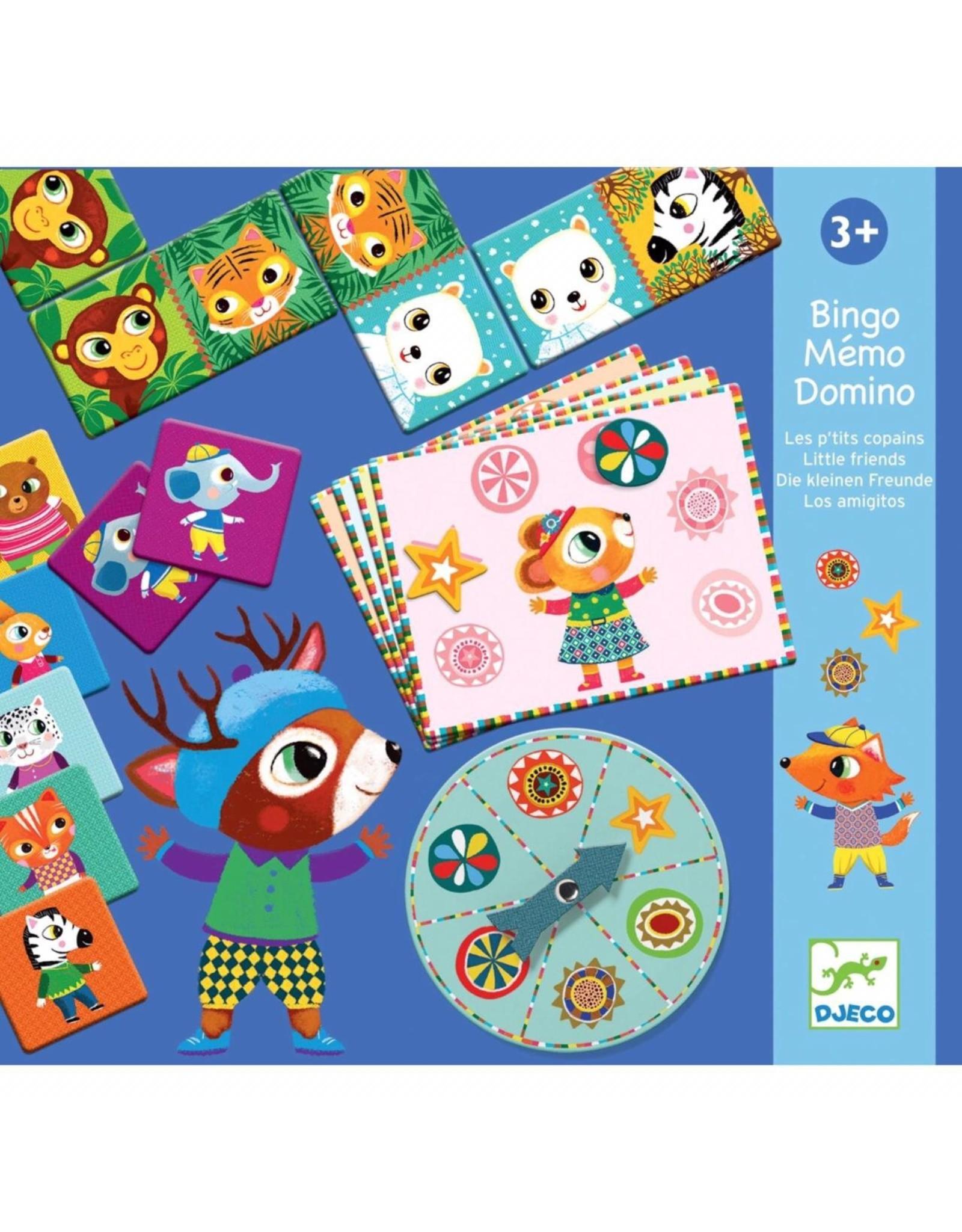 Djeco Memo Domino Bingo Little Friends