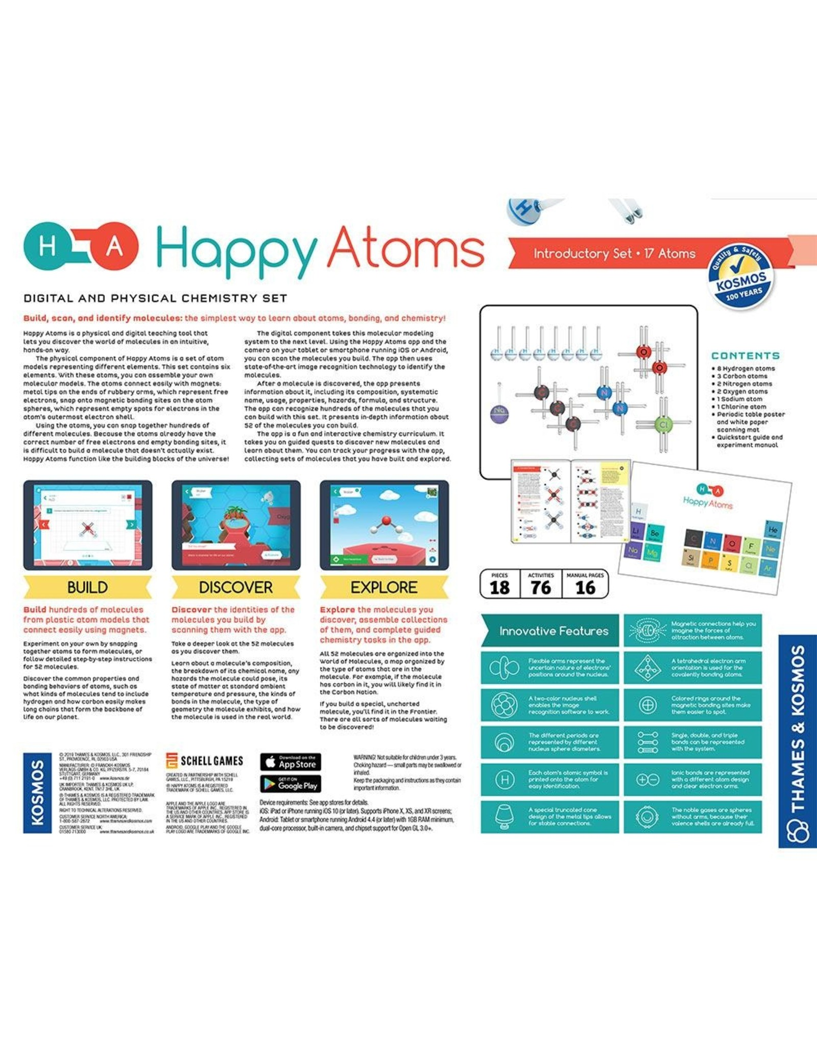 Thames & Kosmos Happy Atoms Introductory Set (17 Atoms)