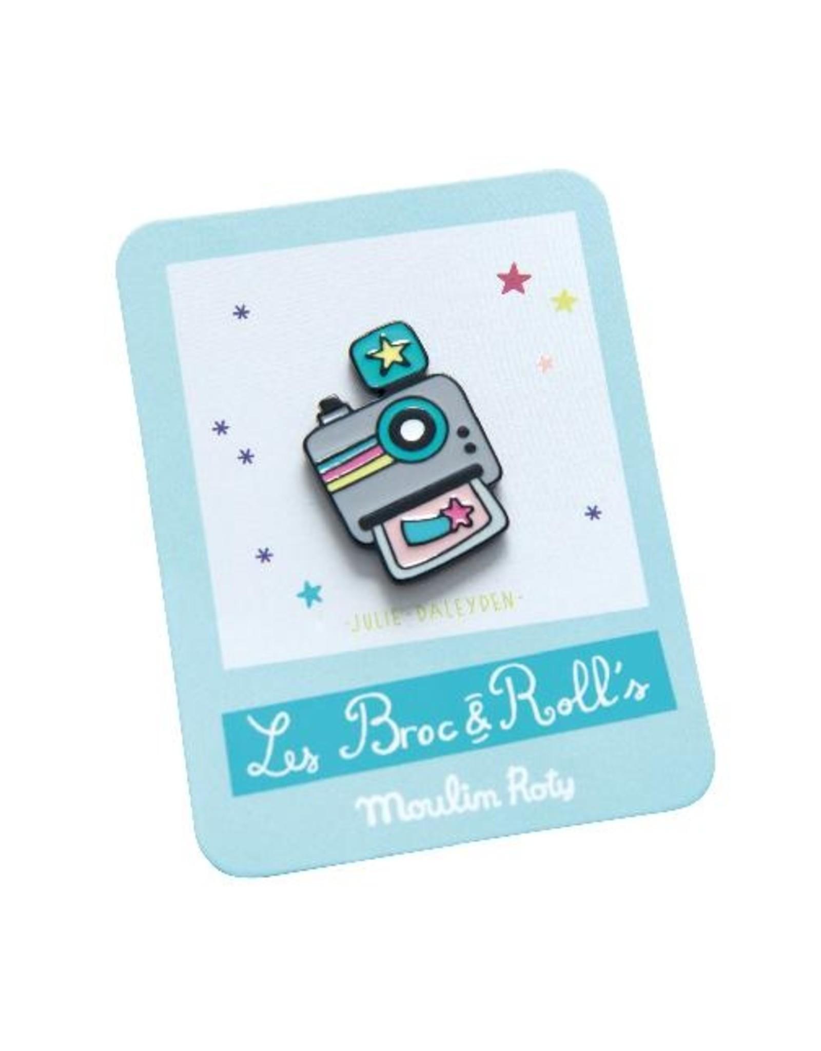 Moulin Roty Broc' & Rolls - Camera Enamel Pin