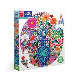 eeBoo Birds And Flowers 500 Pc Rd Puzzle