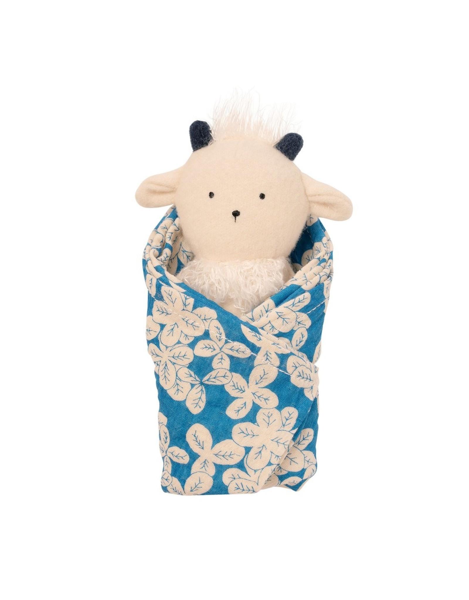 Manhattan Toy Goat Rattle + Burp Cloth