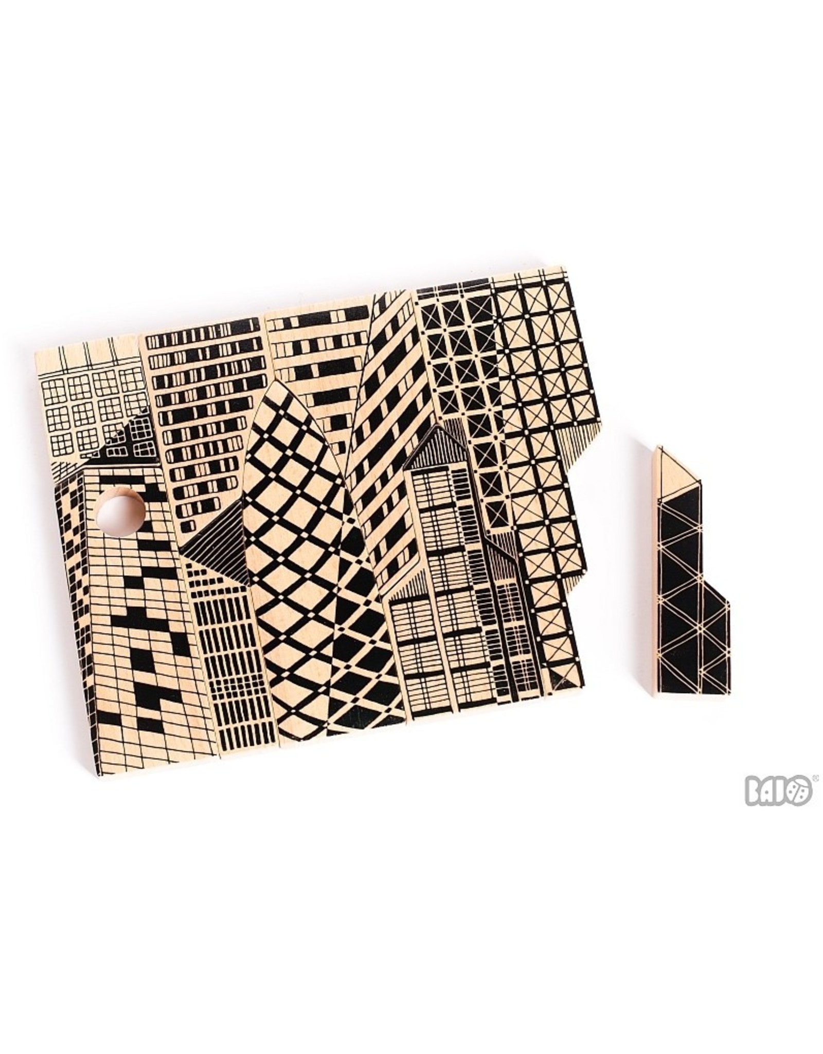 BAJO City Puzzle Wood