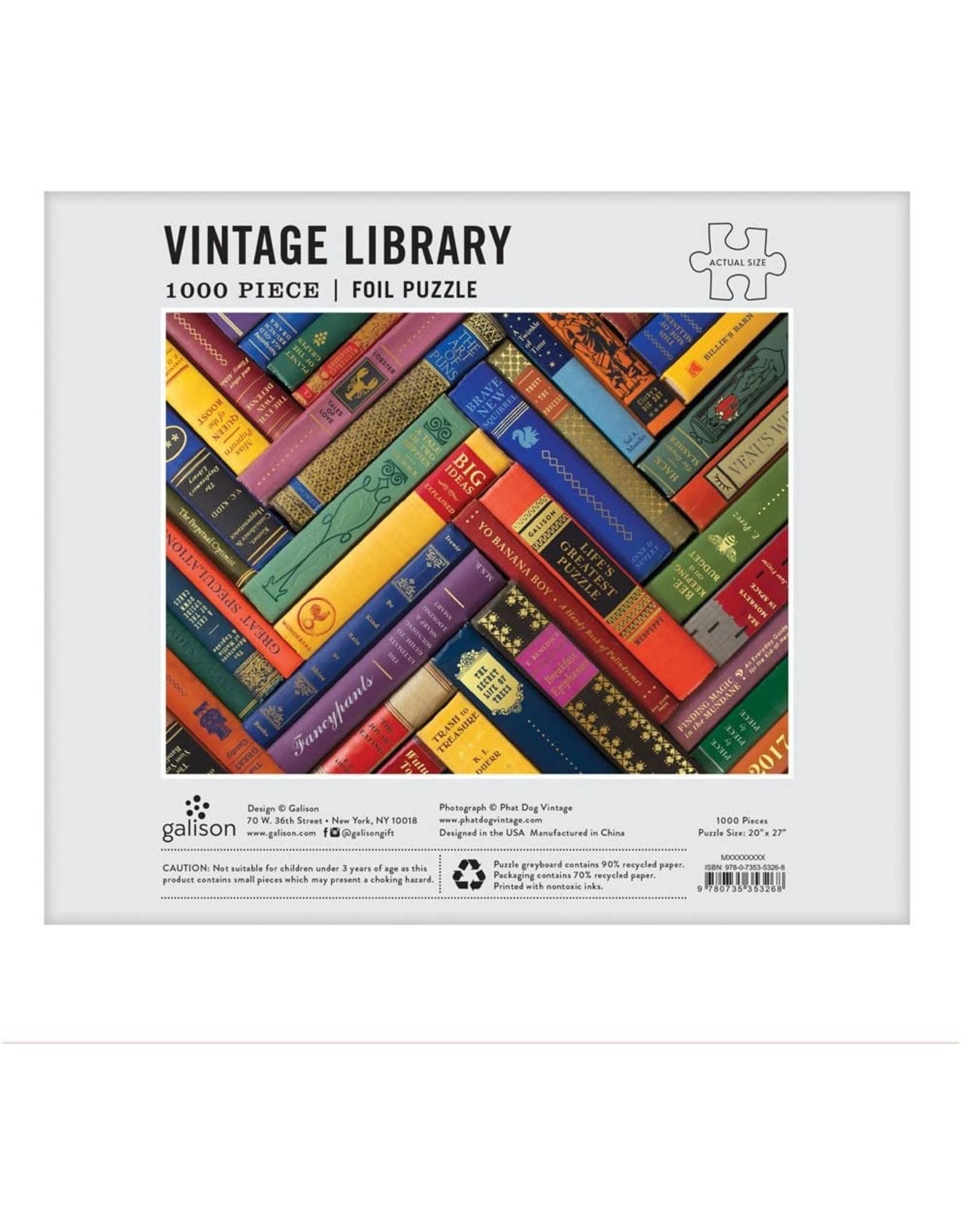 Galison Phat Dog Vintage Library 1000pcs