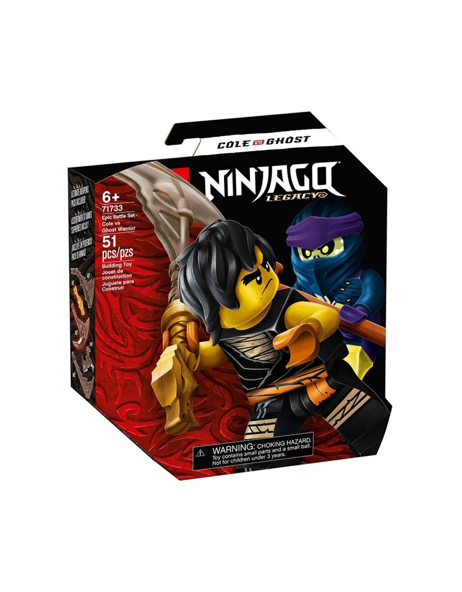 LEGO Ninjago 71733 Epic Battle Set - Cole vs, Ghost