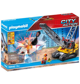 Playmobil Playmobil 70442   Construction Site   Demolition Crane