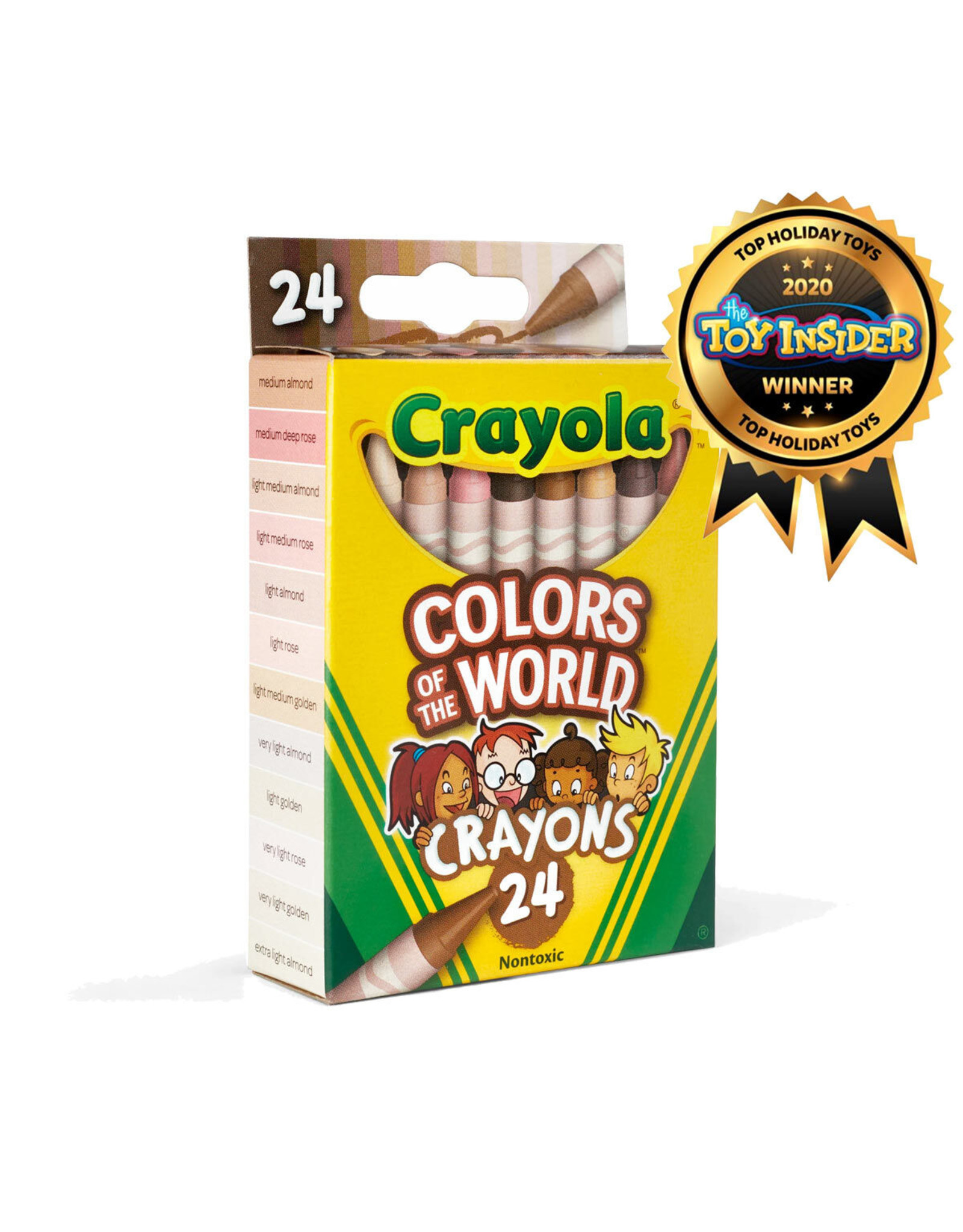 Crayola Colours of the World Skin Tone Crayons, 24 Count