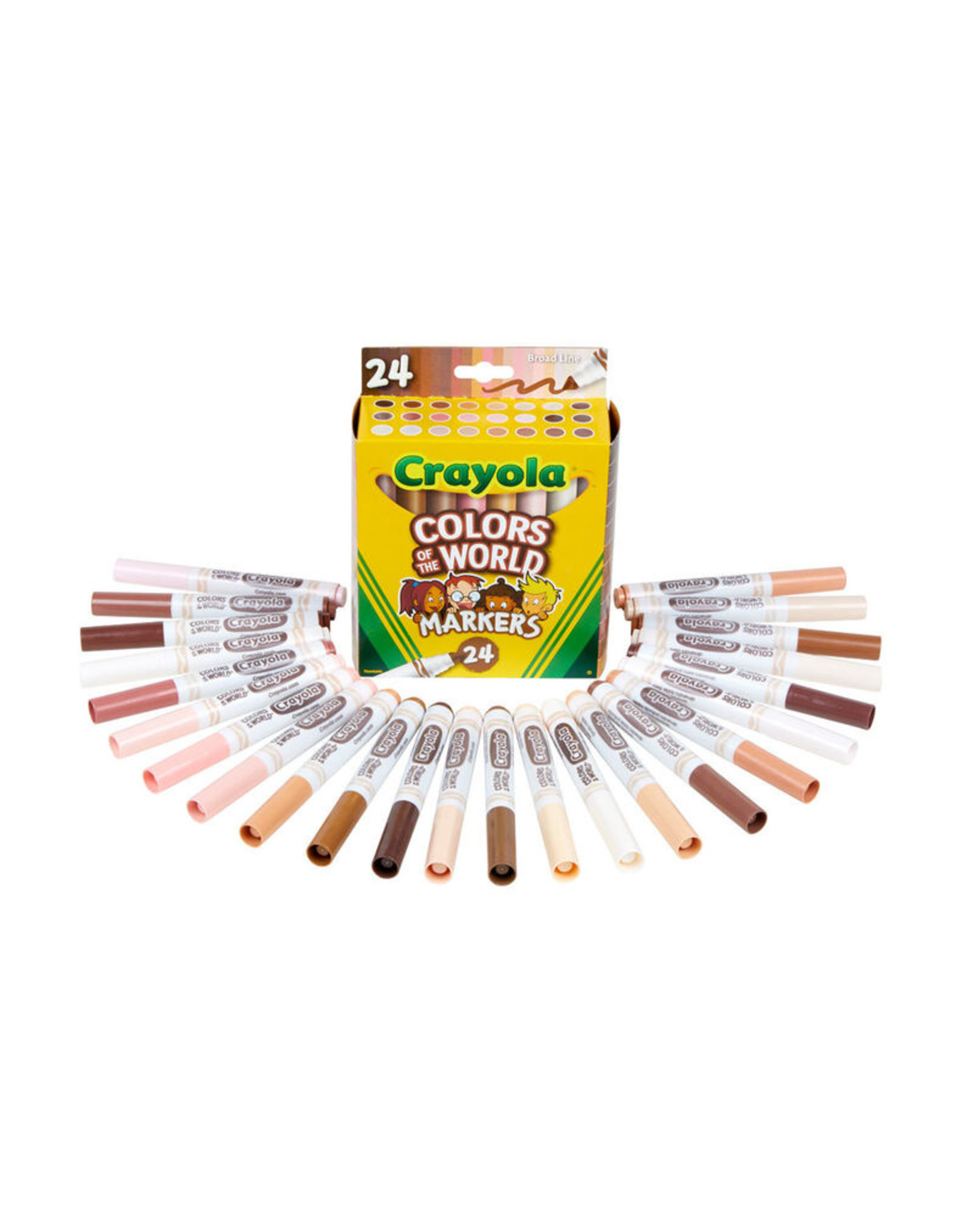 Crayola Colours of the World Washable Markers, 24 Count