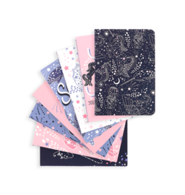 Ooly Mini Pocket Pals Journals: Celestial Stars - Set Of 8 (3.5 X 5)