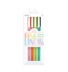 Ooly Fine Line Coloured Gel Pens - Set Of 6