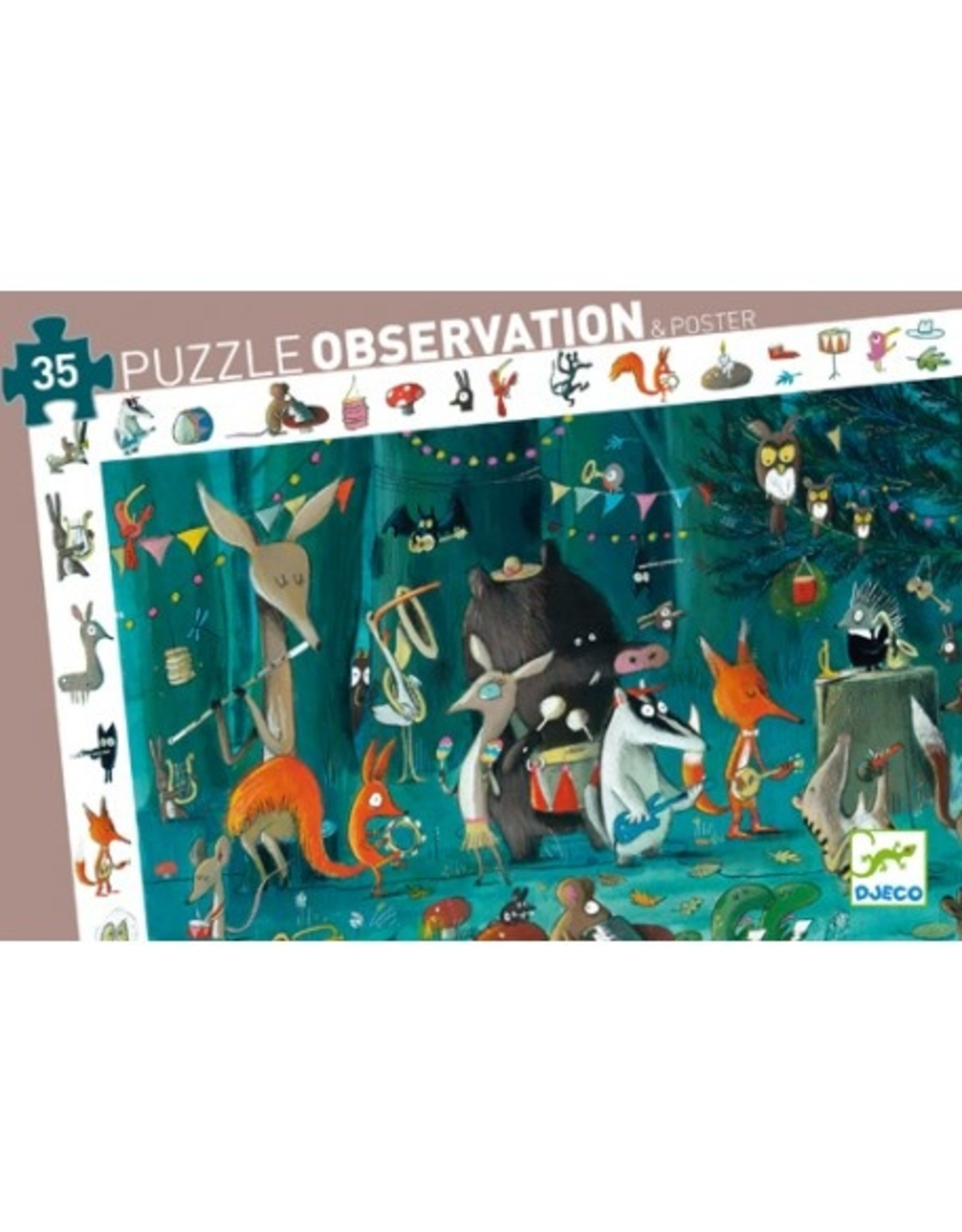 Djeco The Orchestra Observation Puzzle 35 Pcs