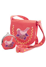 Djeco Bird Embroidered Bag And Coin Purse
