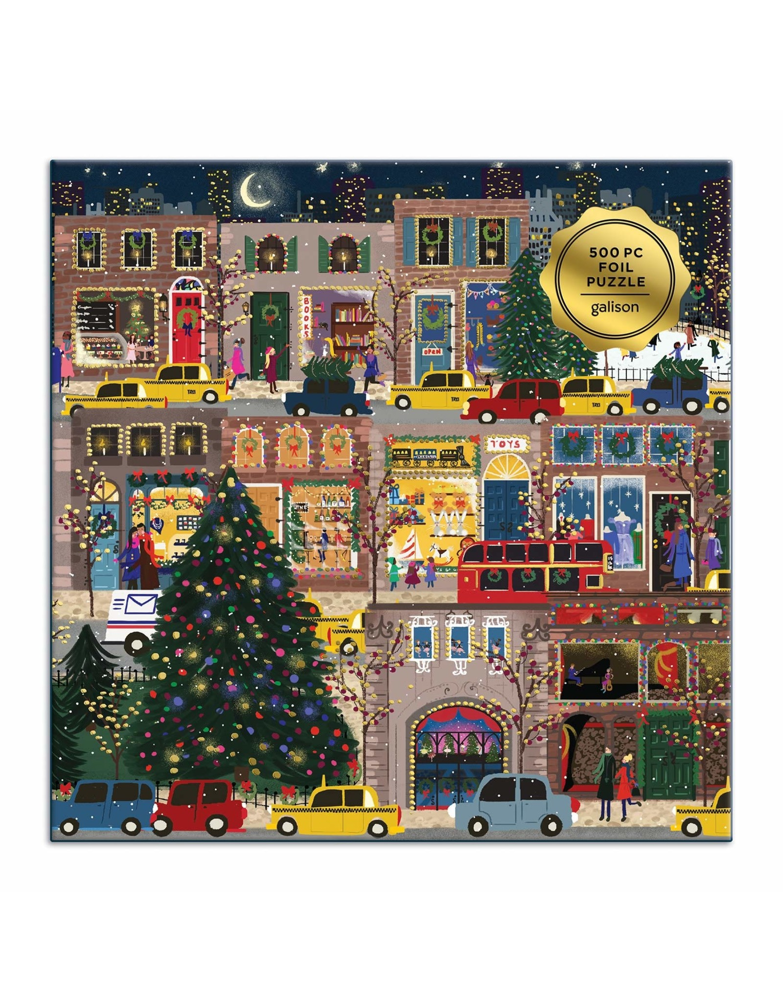Galison Winter Lights Foil Puzzle 500