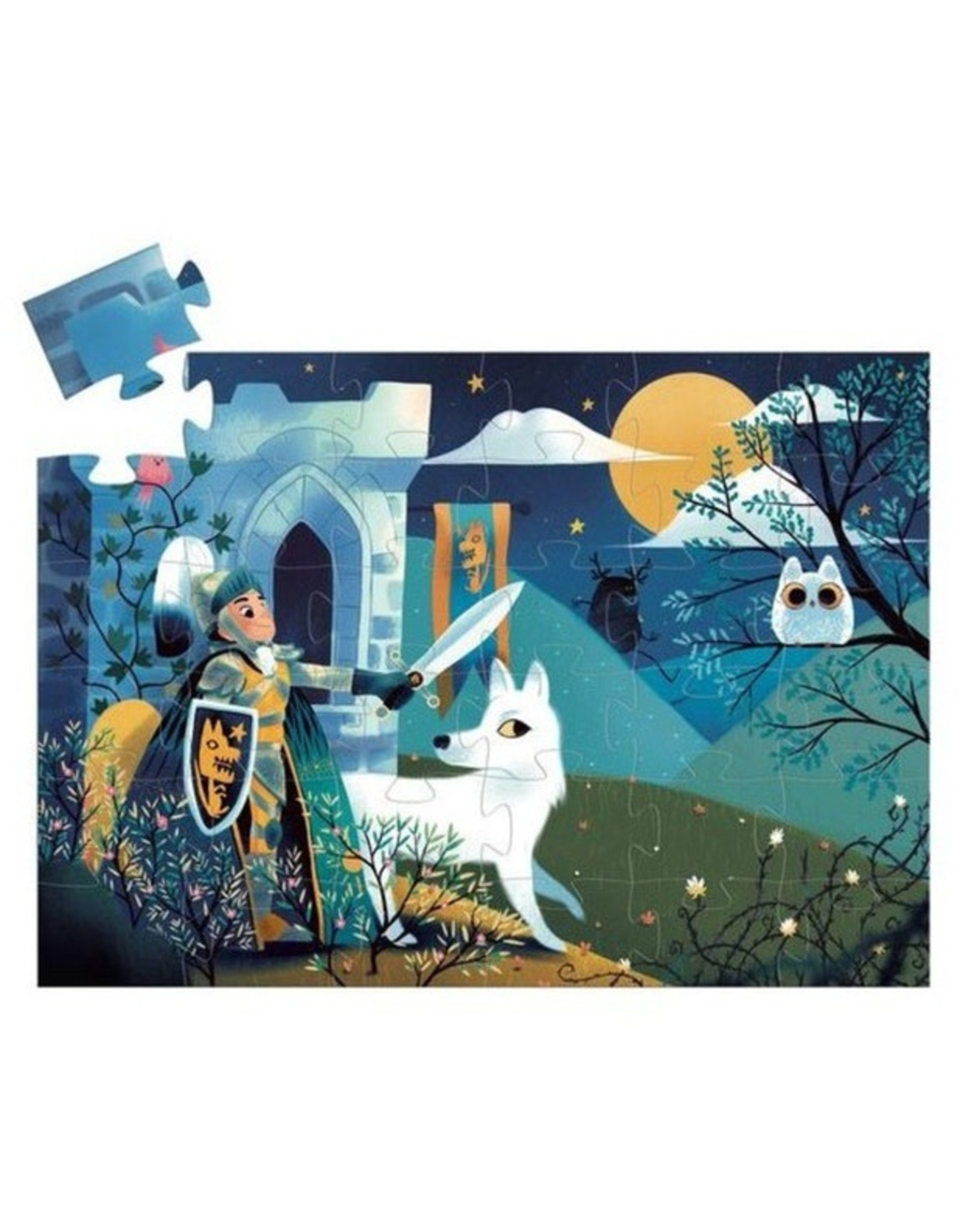Djeco Full Moon Knight Silhouette Puzzle