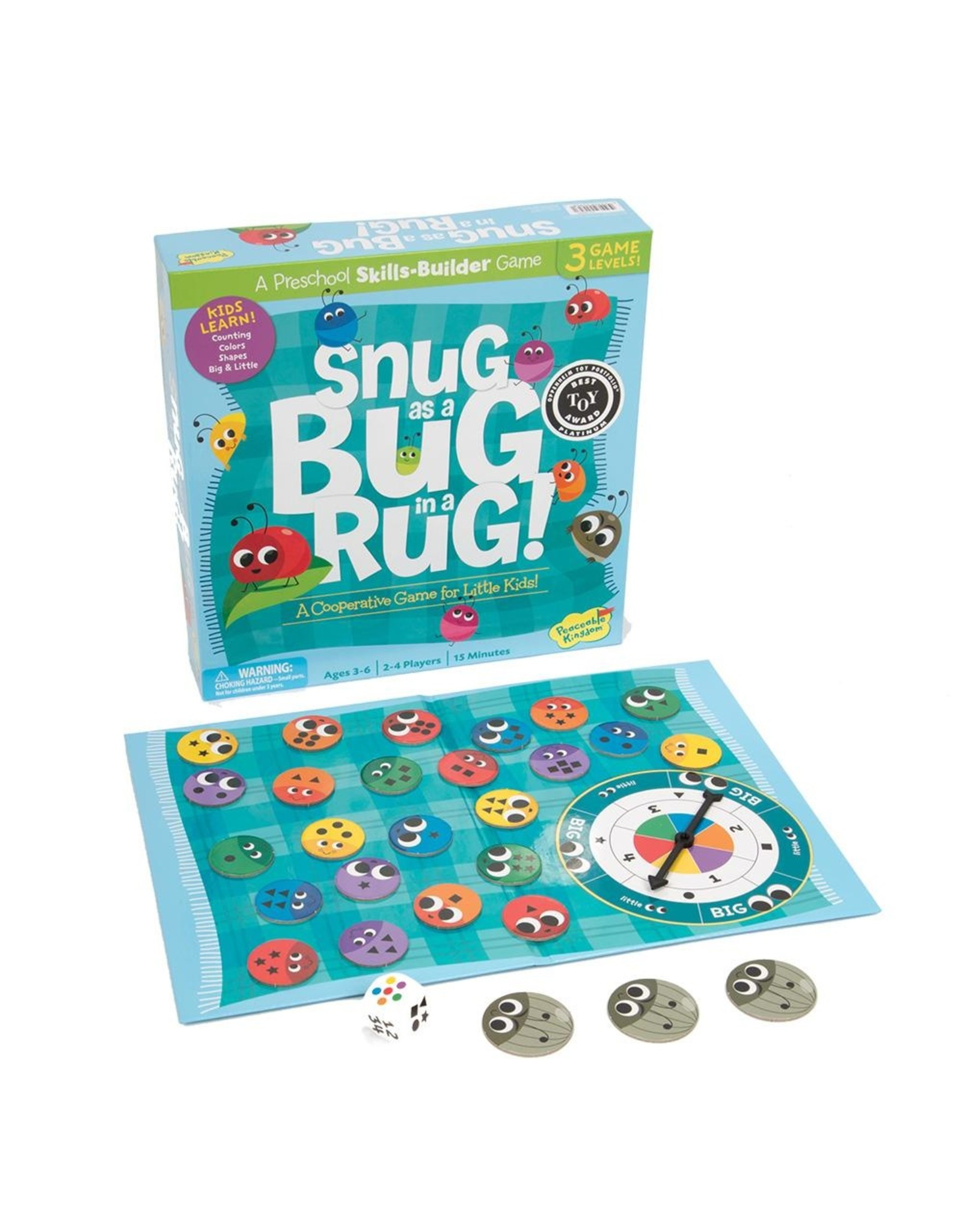 Peaceable Kingdom Snug as a Bug in a Rug Co-operative Game