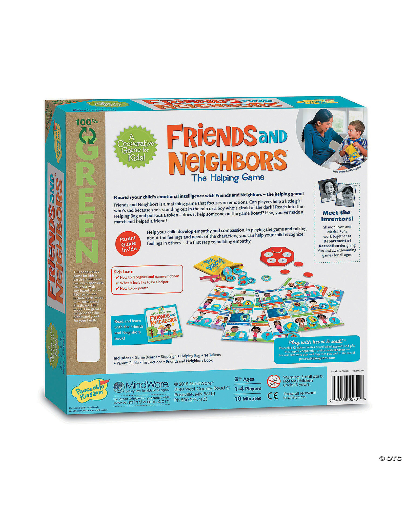 Peaceable Kingdom Friends & Neighbors Matching Game