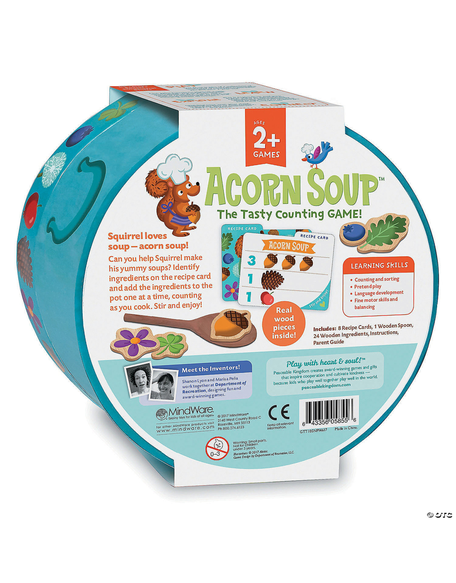 Peaceable Kingdom Acorn Soup Counting Game