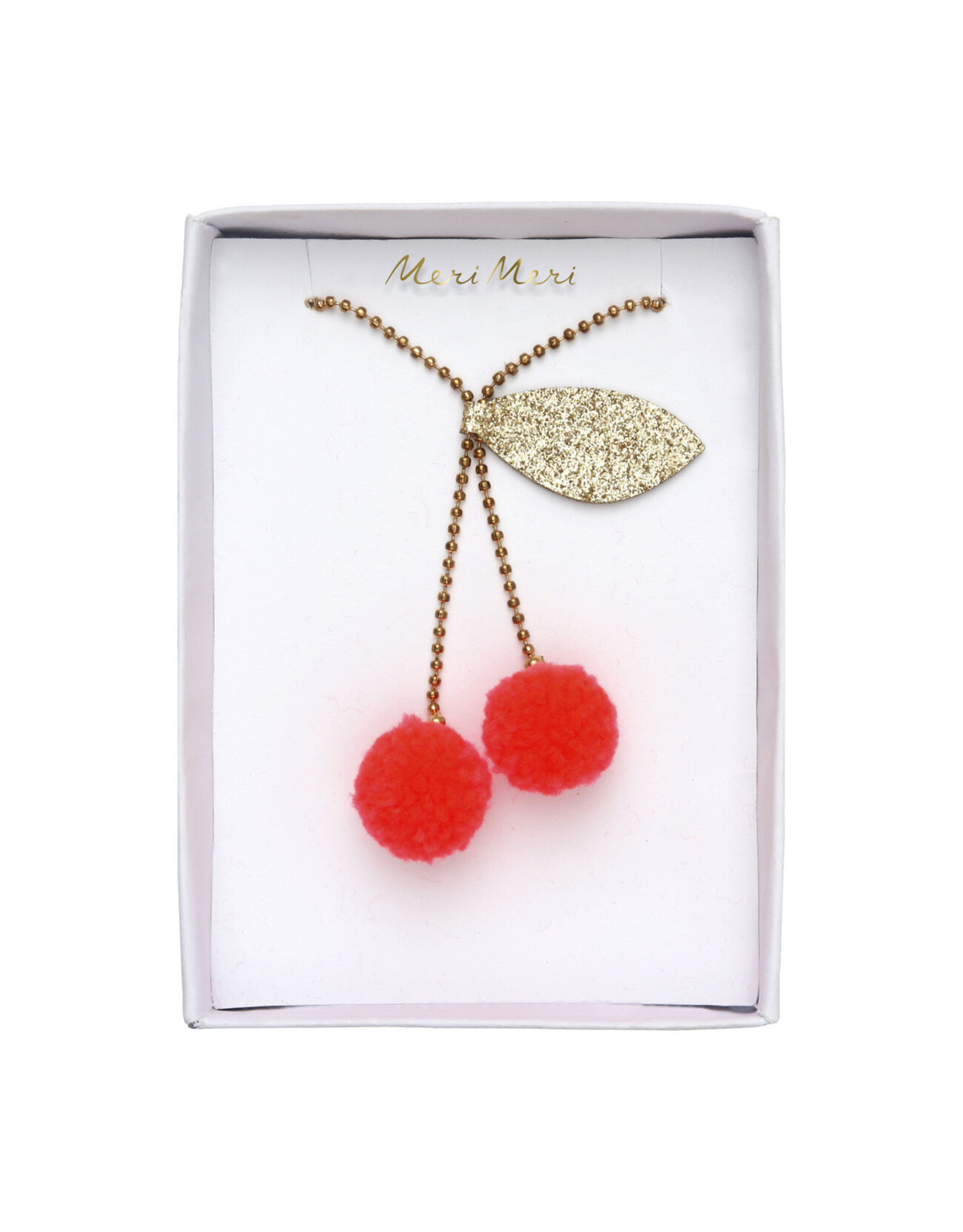 Meri Meri CHERRY POMPOM NECKLACE