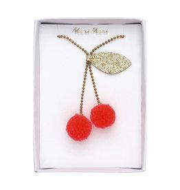 Meri Meri Cherry Pompom Necklace