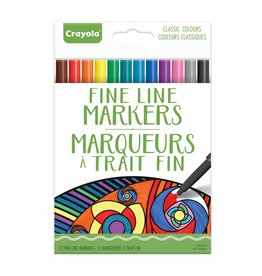 Crayola Aged Up 12 ct Fine Line Markers  Classic Colours