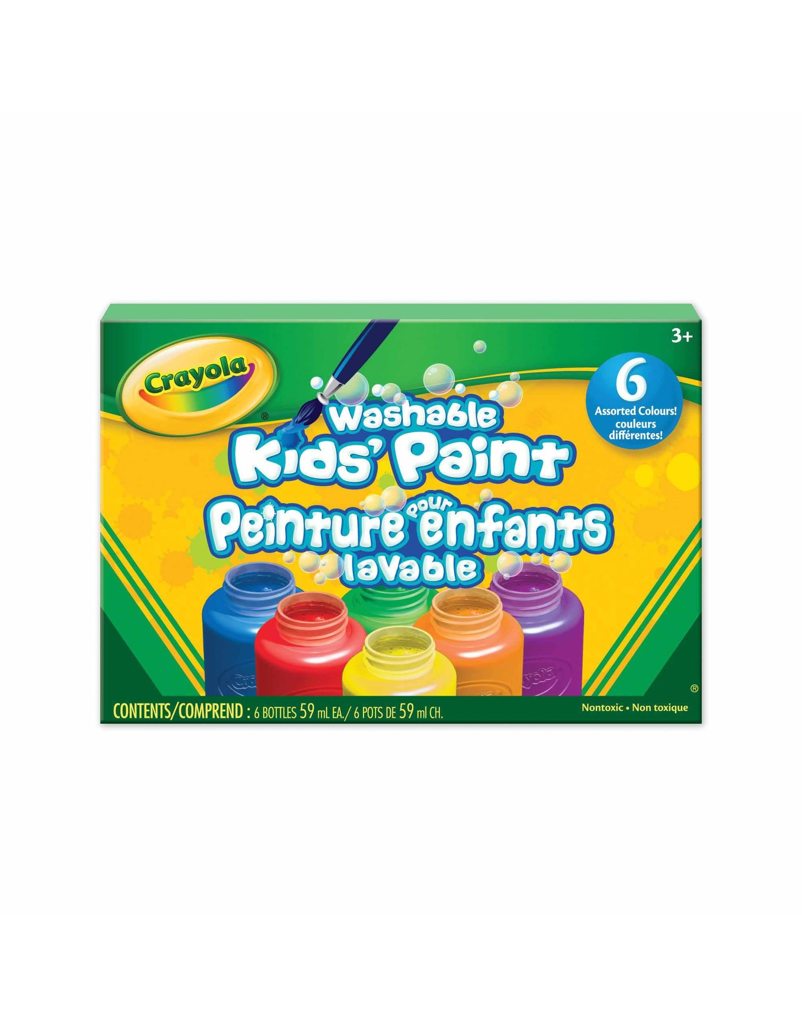 Crayola Washable Project Paint, 6 Count