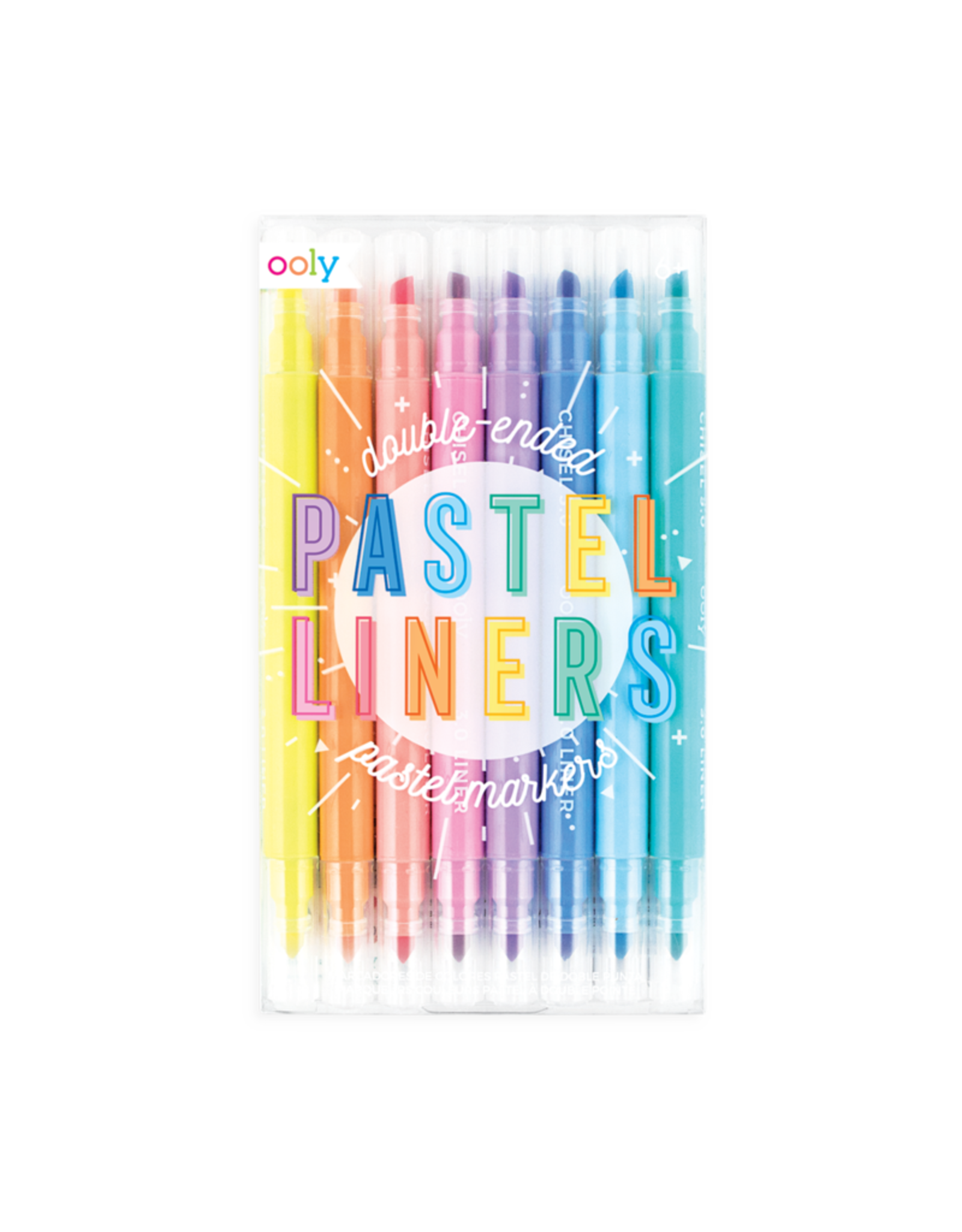 Ooly Pastel Liners Double Ended Markers - Set Of 8