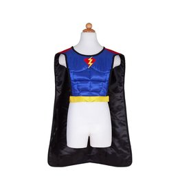 Great Pretenders Reversible Superhero/Bat Tunic With Cape & Mask  Size 4-7
